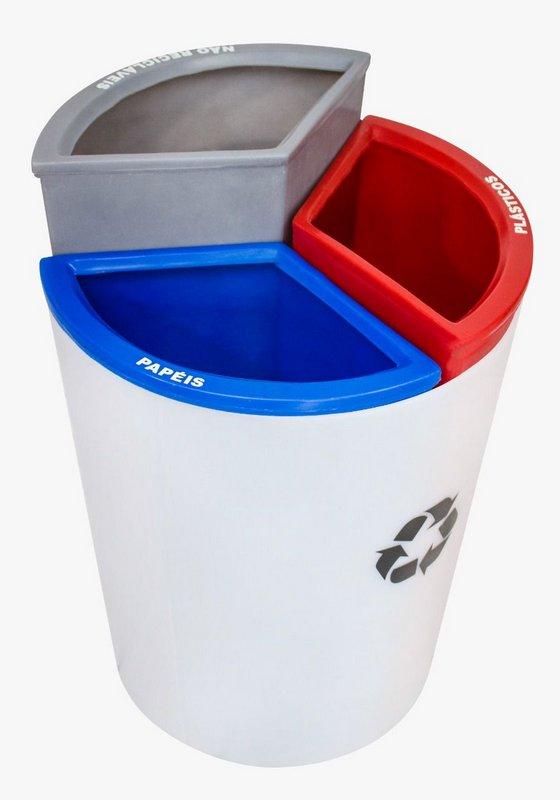 Lixeira Mix 3 capacidade 50 litros   - Reis Lixeiras