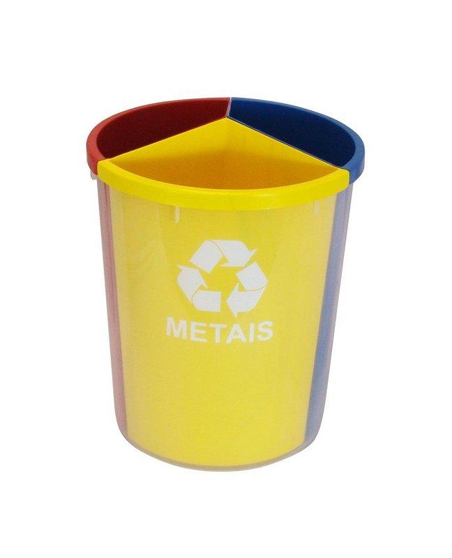 Lixeira Mix com divisões internas 30 litros