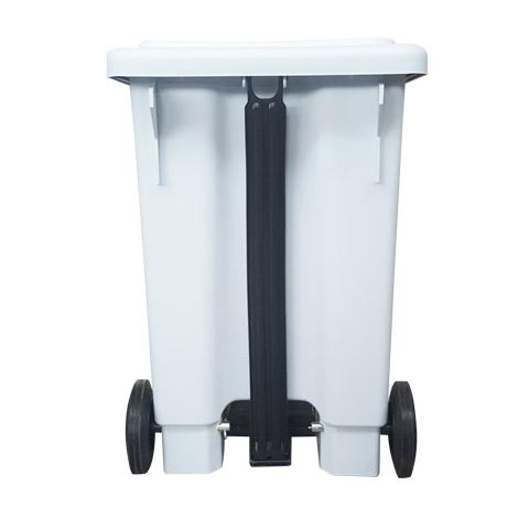 Lixeira plástica retangular com tampa e pedal e Rodas