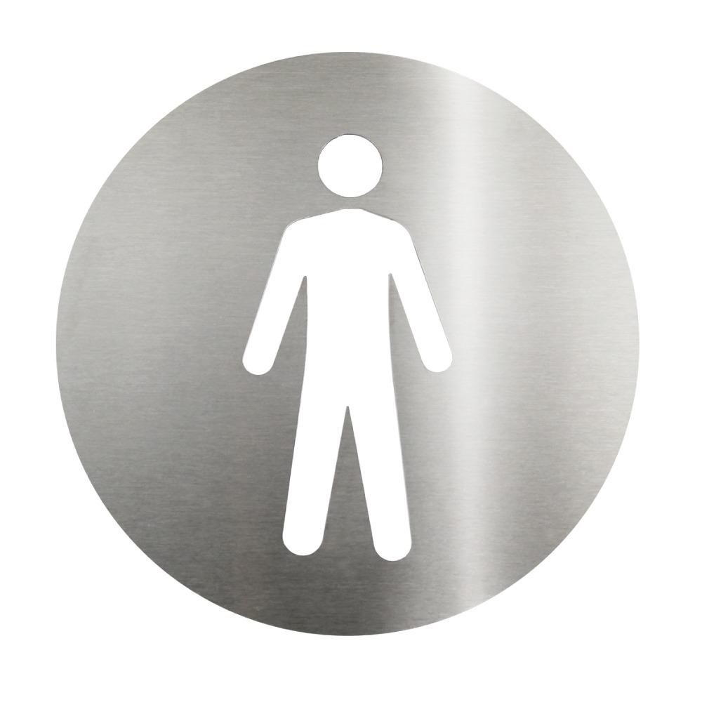 Placa Sinalizadora Aço Inox Cortado a laser  Dizeres: Masculino  - Reis Lixeiras