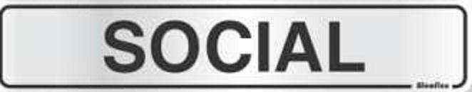 Placa Sinalizadora Alumínio 5 x 25 cm - Social