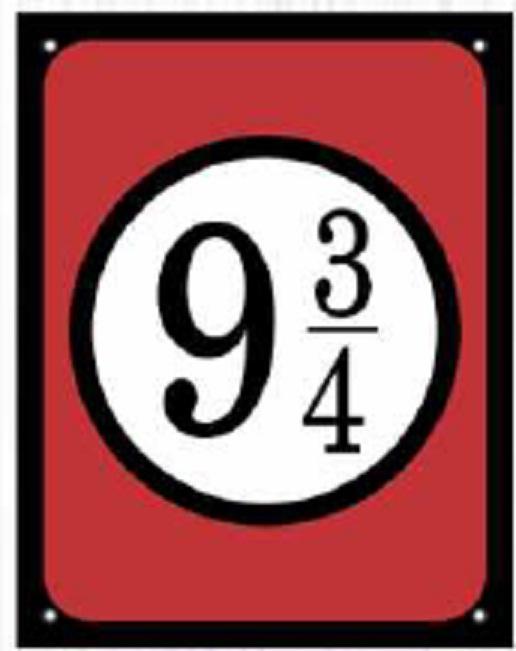 Placa Sinalizadora Poliestireno Dizeres: PLATAFORMA 9 ¾ - 18 x 23 cm  - Reis Lixeiras