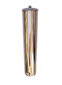 Porta Copo redondo em aço inox para copo de Agua (300mL)