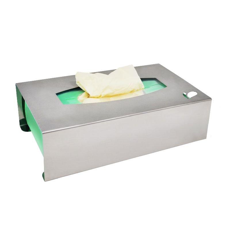 Suporte em aço inox para caixa de luvas de procedimento