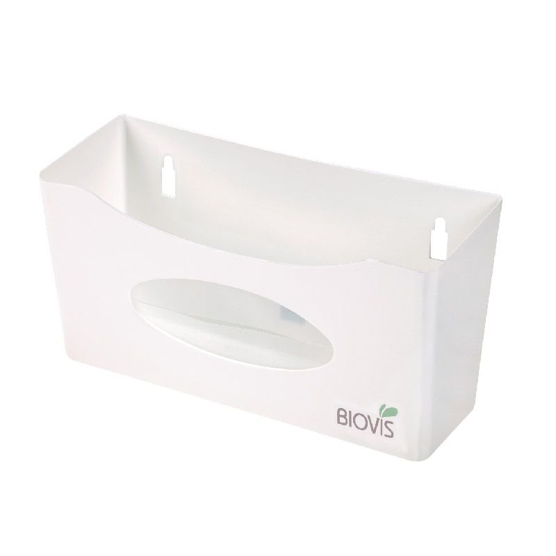 Suporte plástico de parede para caixa de luvas de procedimento