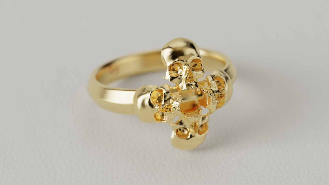 ANEL CIRCLE SKULL (OURO)