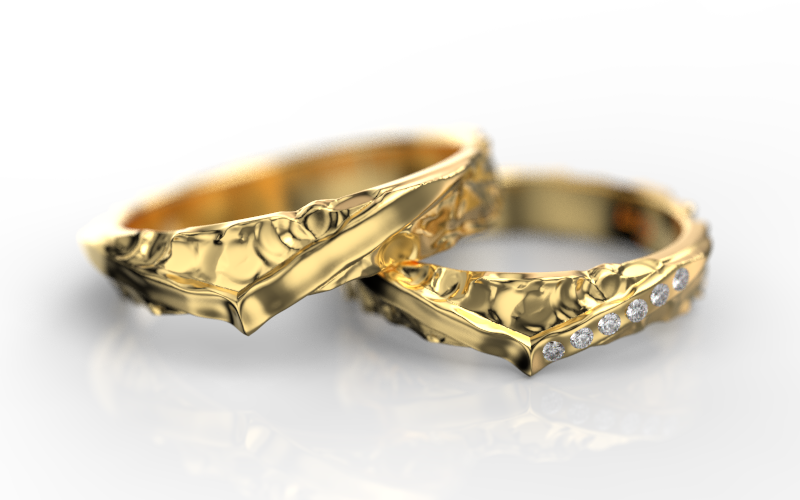 PAR OLD QUEEN com DIAMANTES (OURO 12K)