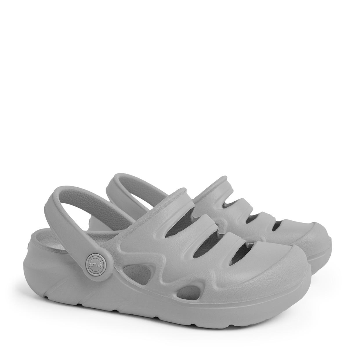 Sandália Clog Infantil Okean Cinza K0002