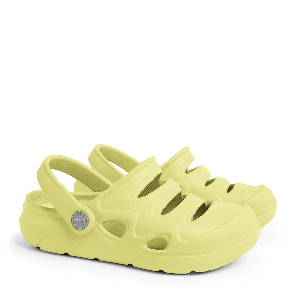 Sandália Clog Infantil Okean Neon K0002