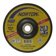 Disco De Desbaste Norton Super 7X1/4X7/8 (Cx.c/10Un)
