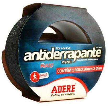 Fita Antiderrapante Preta 50X05 Adere Ref.860S