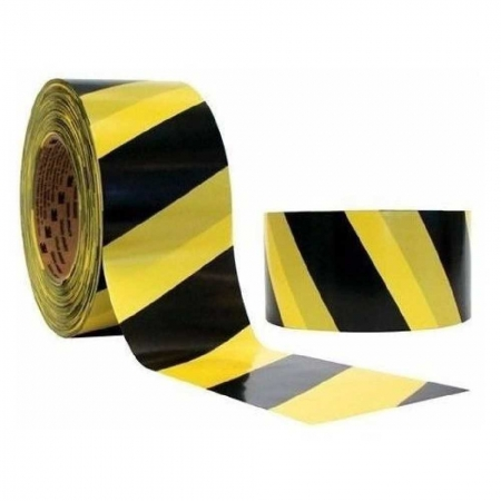 Fita Zebrada P/Sinalizacao 200Mt (Preto E Amarelo)