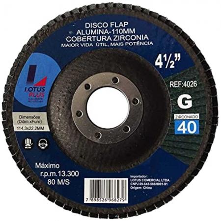 Flap Disco Lotus 4.1/2 Gr40