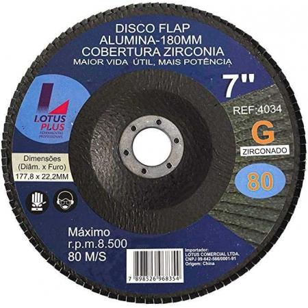 "Flap Disco Lotus 7"" Gr80"
