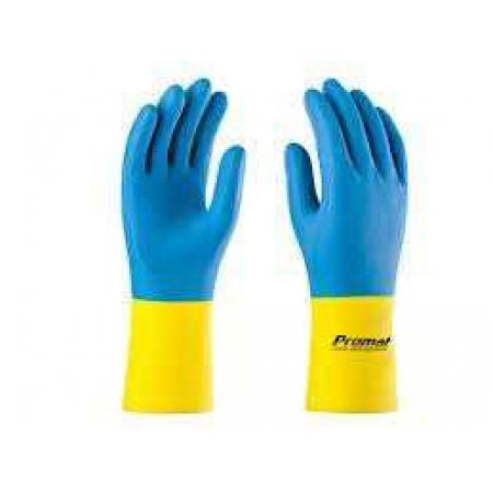 Luva Supermix(Construcao Civil) (Azul/Amarelo) Supersafety