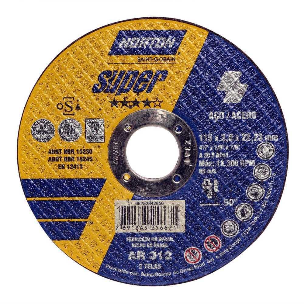 Disco De Corte Norton Super 4.1/2X1/8X7/8 (Cx.c/25Un)