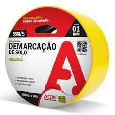 Fita Demarcacao Solo Amarela 50X30 Adere Ref.850