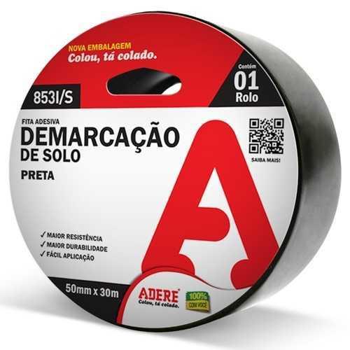 Fita Demarcacao Solo Preta 50X30 Adere Ref.853I/S