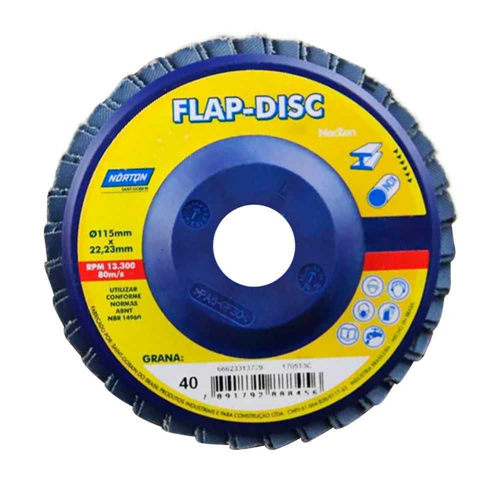 Flap Disco Norton 4.1/2 Gr60 (Cx C/10 Uni)