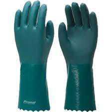 Luva Pvc Vinilplast Palma Aspera 26Cm (Verde) - Safex