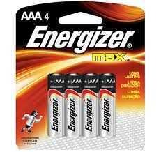 Pilha Palito Aaa4 Energizer Max