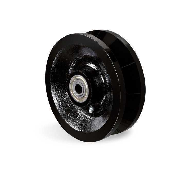 """Roda 4"""" Ferro Fundido Schioppa C/Rolamento (R 414 Fe)"""