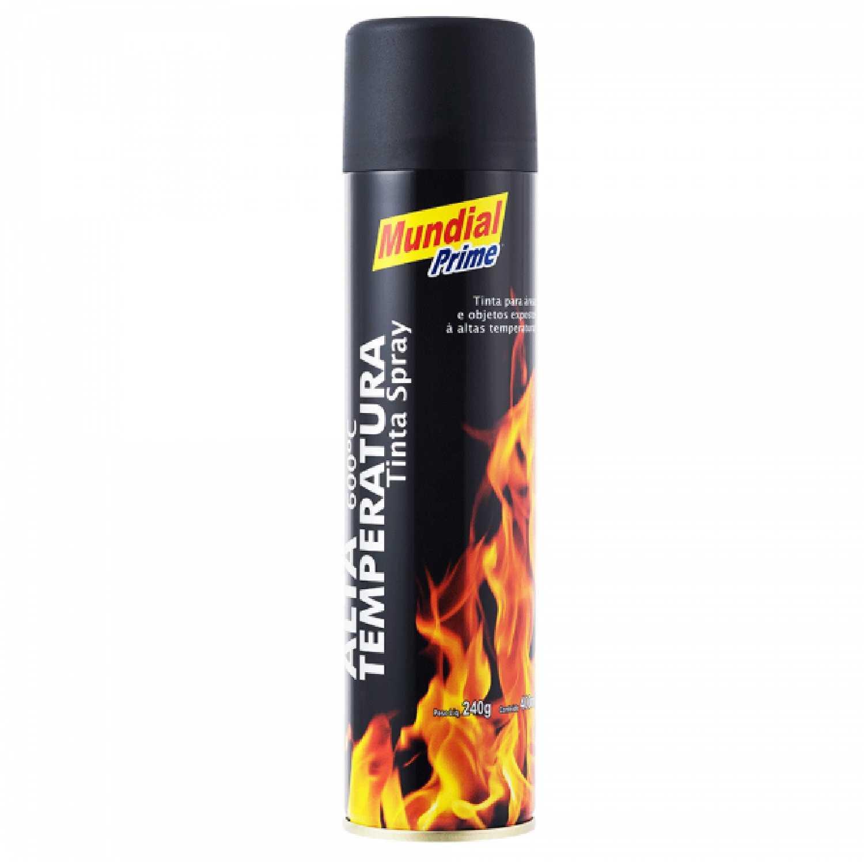 Spray Alta Temp.preto Fosco 400Ml Mundial Prime Ref.3197Pfat