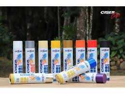 Tinta Spray Preto Brilhante Ciser 400Ml/250Grs