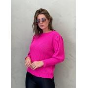 Blusa de Tricot bufante Pink