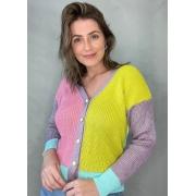 Blusa de tricot com botões colors 2