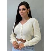 Blusa de tricot com botões OFF