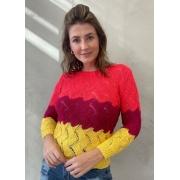 Blusa de Tricot Tricolor 2