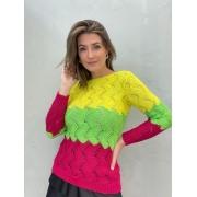 Blusa de Tricot Tricolor 3
