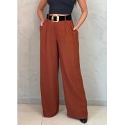 Calça Pantalona Marrom