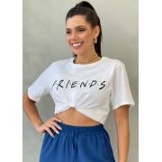 Camiseta de Algodão F.r.i.e.n.d.s