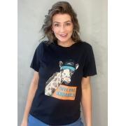 Camiseta de Algodão Girafa