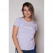 Camiseta de Algodão Today Lilás