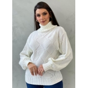 Blusa de tricot quadrado OFF