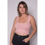 Cropped Tricot Reto Rose