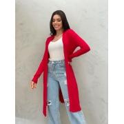 Maxi Cardigan TricoT vermelho