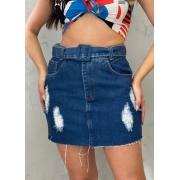 Saia Jeans com Cinto