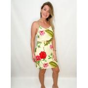 Vestido Bege Floral