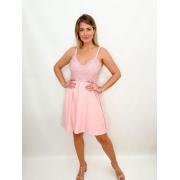 Vestido curto rosa