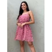Vestido curto rosa queimado