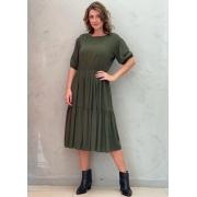 Vestido Midi Amplo Verde