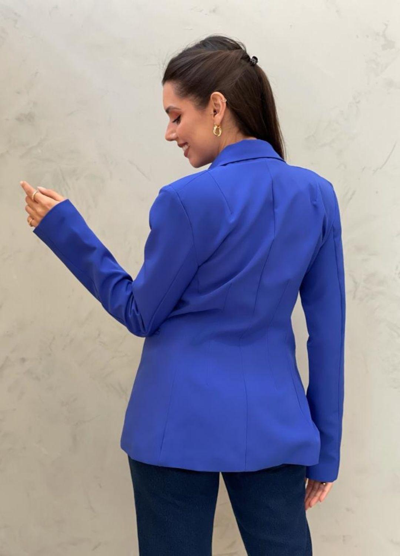 Blazer de Alfaiataria Acinturado Azul bic
