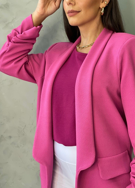 Blazer em crepe Pink