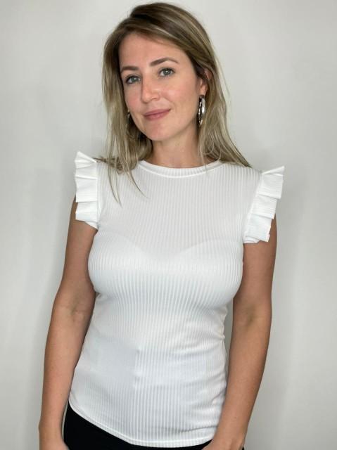Blusa Canelada Branca