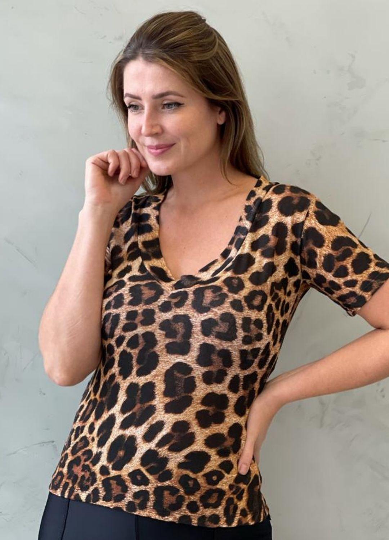 Blusa de malha Animal Print