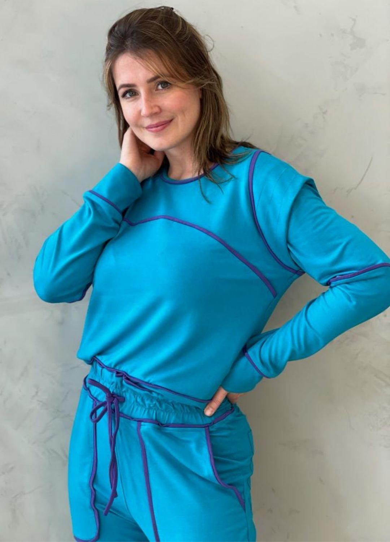 Blusa de moletinho Azul
